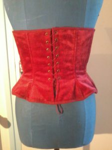 Corset rouge - dos
